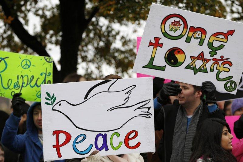 政治文明必須有和平作為基礎,不然文明無法真正被落實,反倒造成更多的衝突。(美聯社)