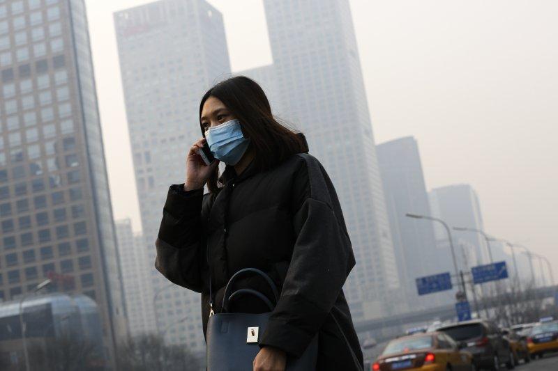 中國研究指稱霧霾可以促進森林快速生長。北京霧霾。(美聯社)