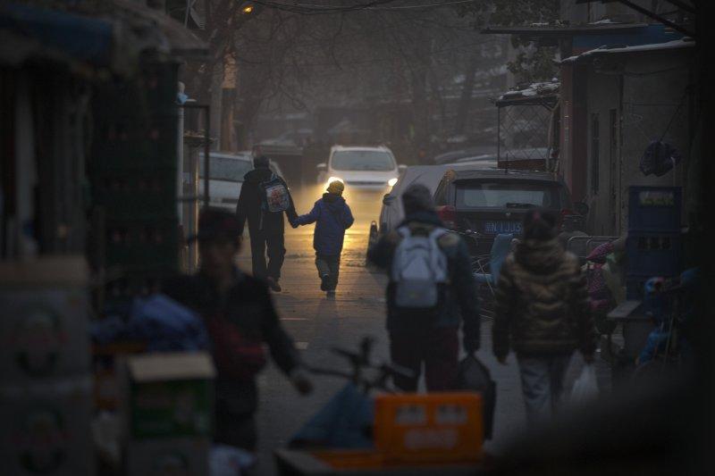 北京霧霾深重。(美聯社)