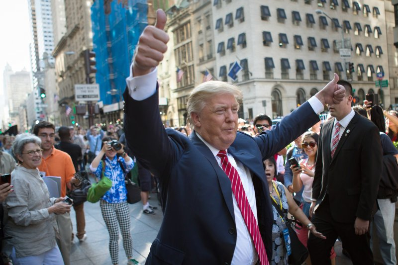 爭取代表共和黨角逐總統大位的億萬富豪川普(Donald Trump)(美聯社)