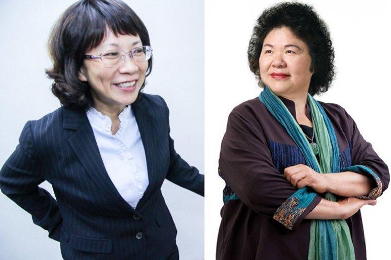 兩任勞委會主委王如玄和陳菊,是藍綠搞不好經濟的原因嗎?(曾原信攝/陳菊臉書)