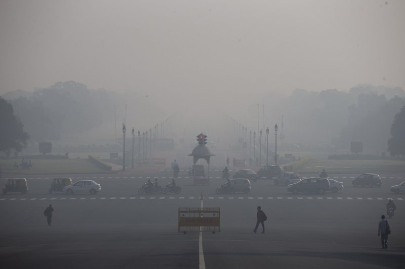 印度新德里空氣汙染情形嚴重(美聯社)