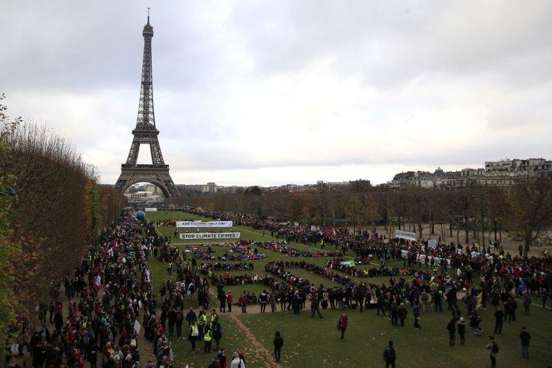 《巴黎協定》中的減碳承諾將成為民進黨推全面廢核的「死穴」。(資料照片,美聯社)