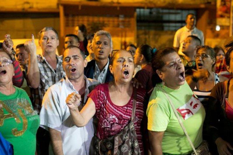 委內瑞拉人民用選票表達對經濟和治安現況的不滿(取自美聯社)