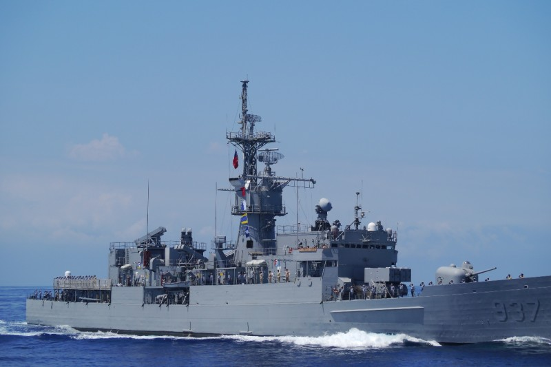 漢光演習 濟陽級軍艦:編號937的淮陽艦。(朱明攝)