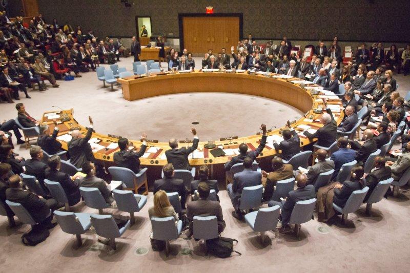 聯合國安理會17日召開大會,決議斬斷伊斯蘭國金脈。(美聯社)