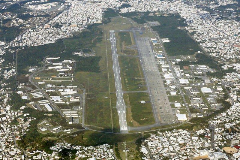 日本沖繩普天間美軍陸戰隊基地(美聯社)