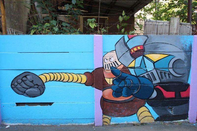 嘉義市的「懷舊卡通巷」禁菸。(圖片來源:嘉義市政府)
