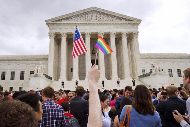 美國聯邦最高法院(Supreme Court of the United States)6月做出歷史性判決,促成全美同性婚姻合法化。(美聯社)