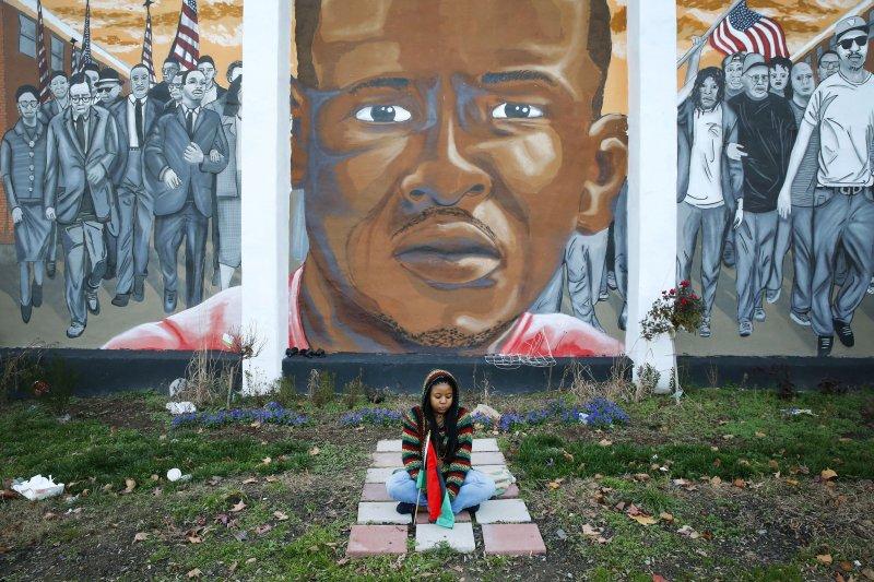 美國東部大城巴爾的摩(Baltimore)發生白人警察執法過當,槍殺黑人嫌疑人,引發發暴動。(美聯社)