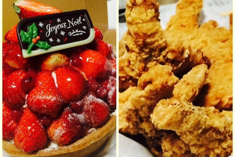 日本人習慣在聖誕夜和家人朋友一起享用炸雞和草莓蛋糕(圖片Anna提供)