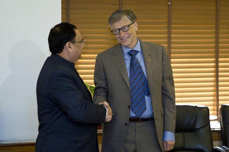 微軟共同創辦人比爾蓋茲(Bill Gates)在個人部落格公布今年的6個好消息。(美聯社)
