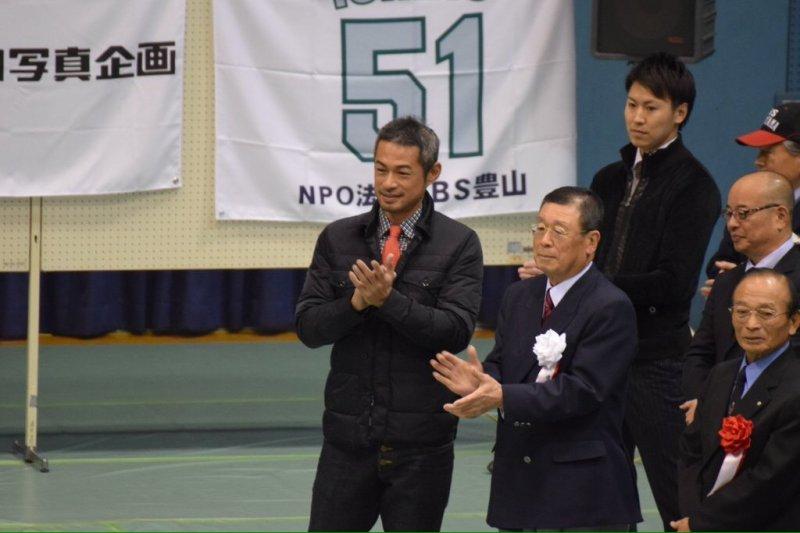 鈴木一朗參與第20屆一朗盃軟式棒球爭奪大會。(翻攝官網)