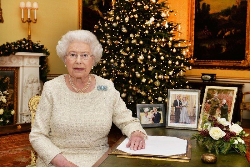 英國女王於25日下午播送的耶誕賀詞(美聯社)