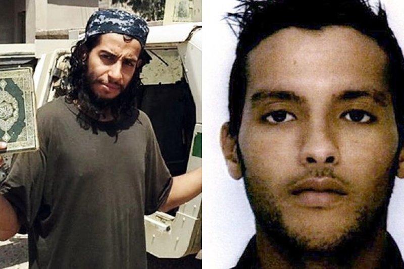 巴黎恐攻主嫌阿巴伍德(Abdelhamid Abaaoud,圖左)與莫丹(Charaffe al-Mouadan,圖右)。(取自網路)