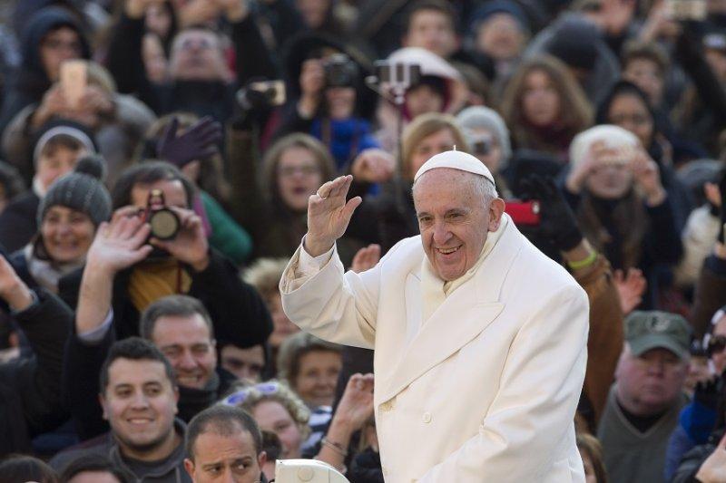 天主教教宗於30日在梵蒂岡聖彼得廣場(美聯社)