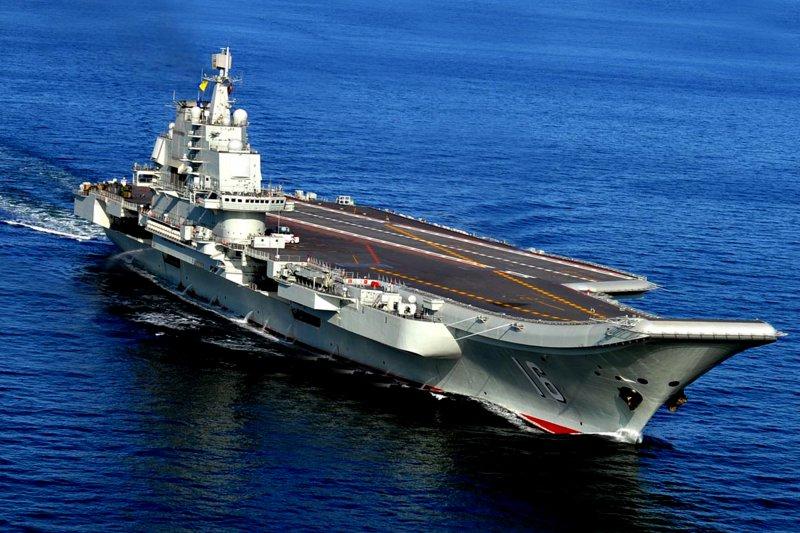 中國首艘航空母艦遼寧艦。(美聯社)