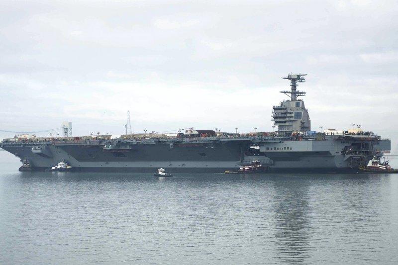 美國福特號航空母艦。(維基百科)