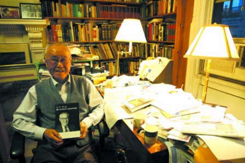 夏志清桃李天下,退休後的新生命是「與書為伴」。(資料照,取自百道網)