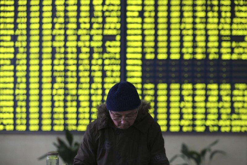 全球股市大跌。(美聯社)