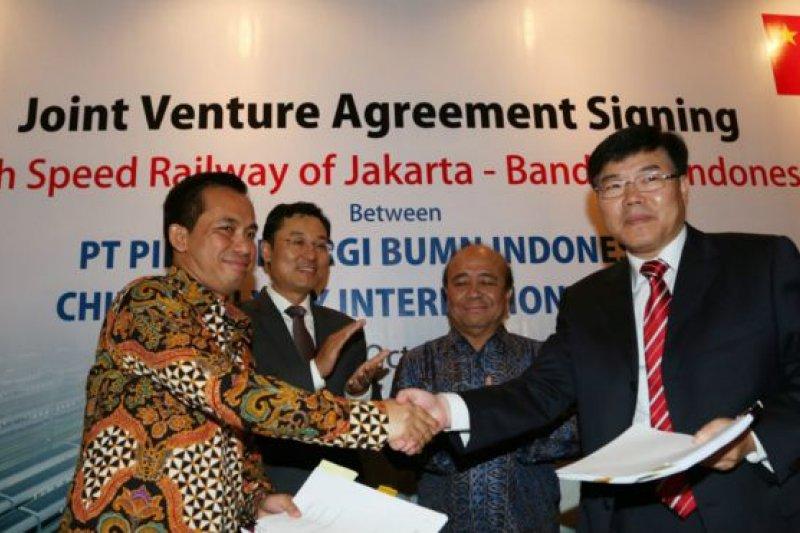 中國印尼簽署了高鐵項目合約。(BBC中文網)