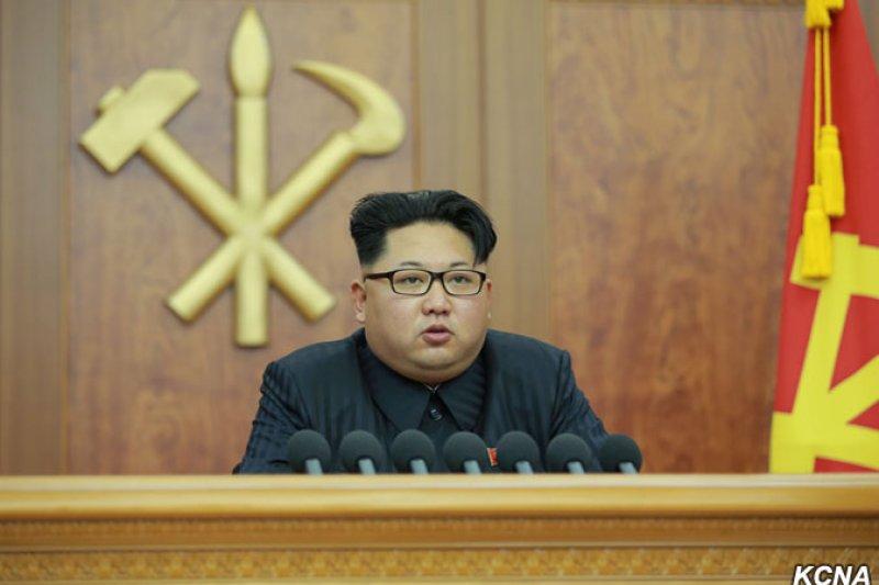 北韓最高領導人金正恩發表2016年新年賀詞(朝中社)