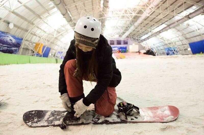 不必飛出國,新竹就有一個大型室內滑雪場!