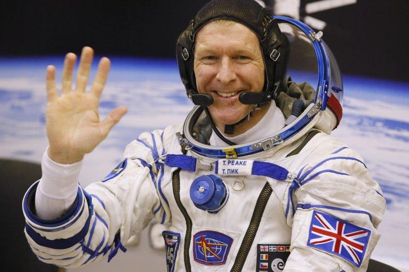 英國太空人皮克。(美聯社)