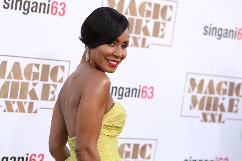 潔達蘋姬史密斯於《魔力麥克 XXL》(Magic Mike XXL)洛杉磯首映現場。(美聯社)