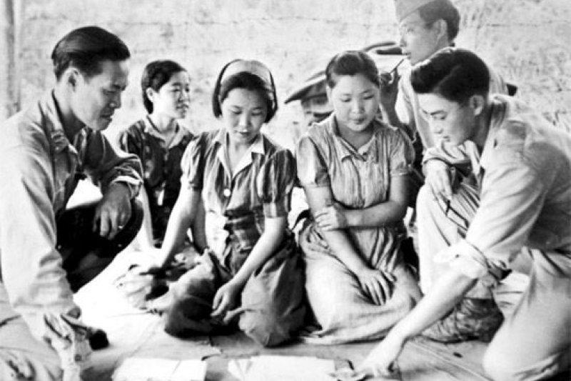 遭美軍捕獲的韓籍慰安婦(圖/wikimedia commons)