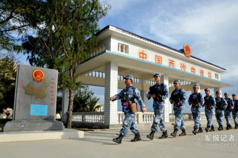 中建島上的解放軍。