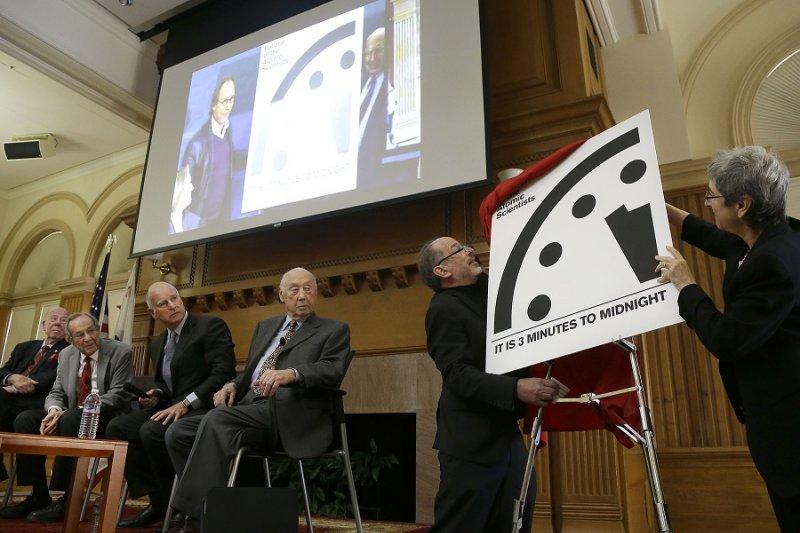 《原子科學家公報》於26日為末日鐘揭幕(美聯社)