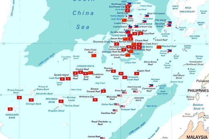 南海一直以來為主權爭議地,中國,菲律賓及越南各表立場(取自為基百科,BreakdownDiode攝/CC BY4.0)