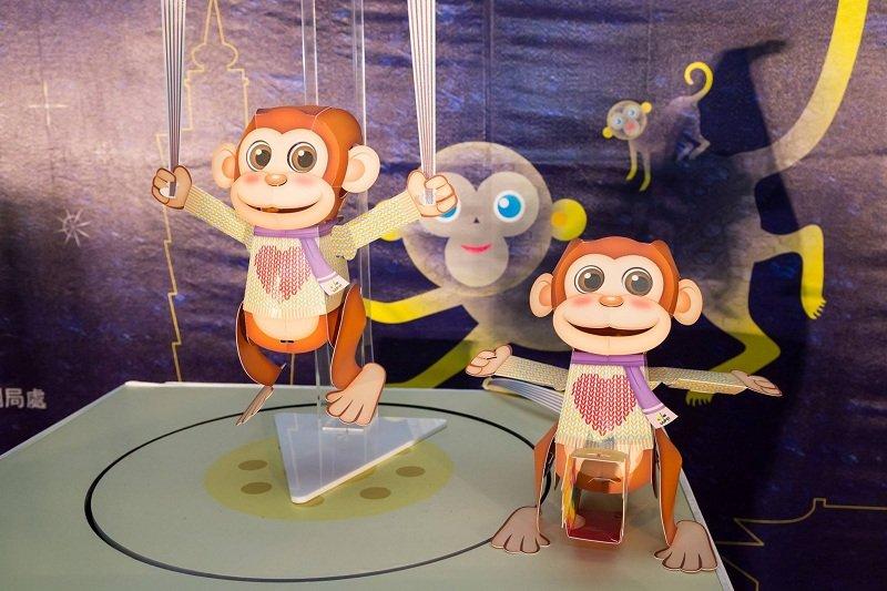 除了福祿猴,台北燈節的小提燈,是不是可愛多了?(取自台北燈節臉書)