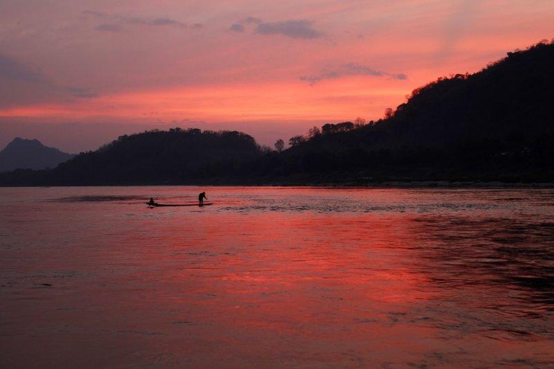 列名UNESCO世界遺產的寮國龍坡邦。(美聯社)