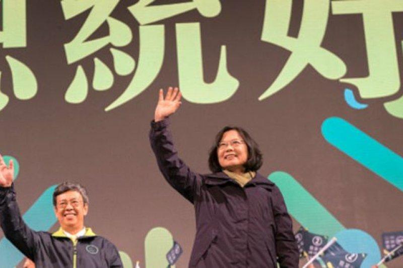 台灣大選,蔡英文勝出開始了政黨輪替新的篇章。(BBC中文網)