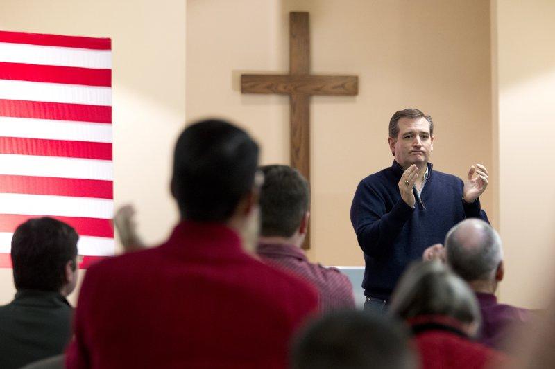 美國共和黨總統參選人、德州聯邦參議員克魯茲(Ted Cruz)(美聯社)