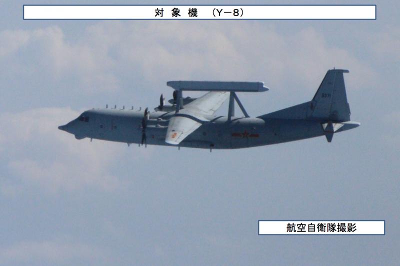 高新-8號電子偵察機。(統合幕僚監部)