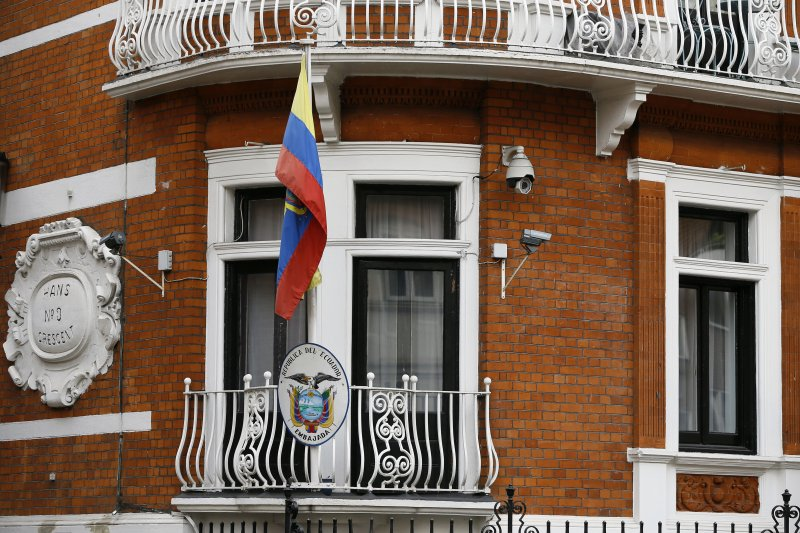 阿桑奇位於厄瓜多大使館的藏身處(美聯社)