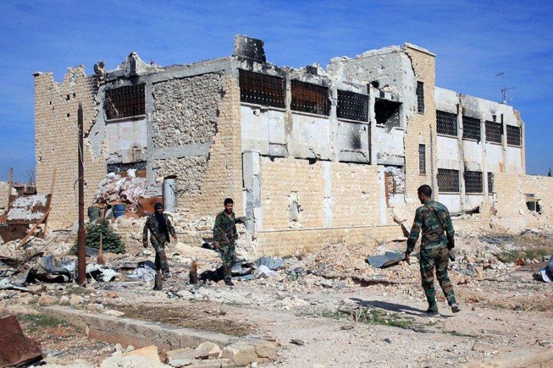 敘利亞政府軍於阿勒波(美聯社)