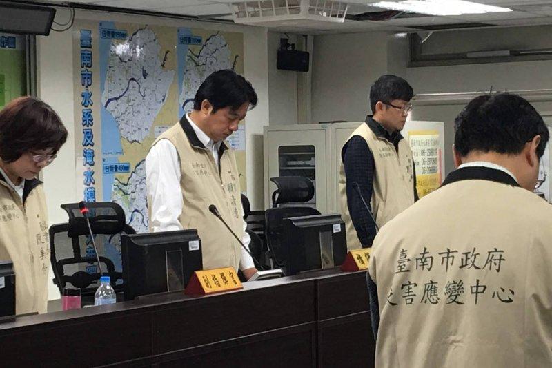 台南市長賴清德13日宣布維冠搜救行動告一段落。(賴清德臉書)