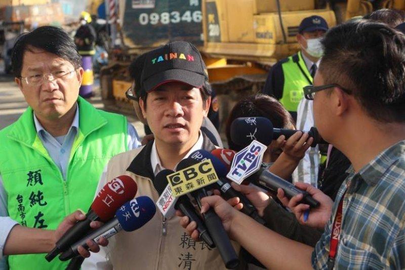 台南市長賴清德13日上午接受媒體訪問。(取自賴清德臉書)