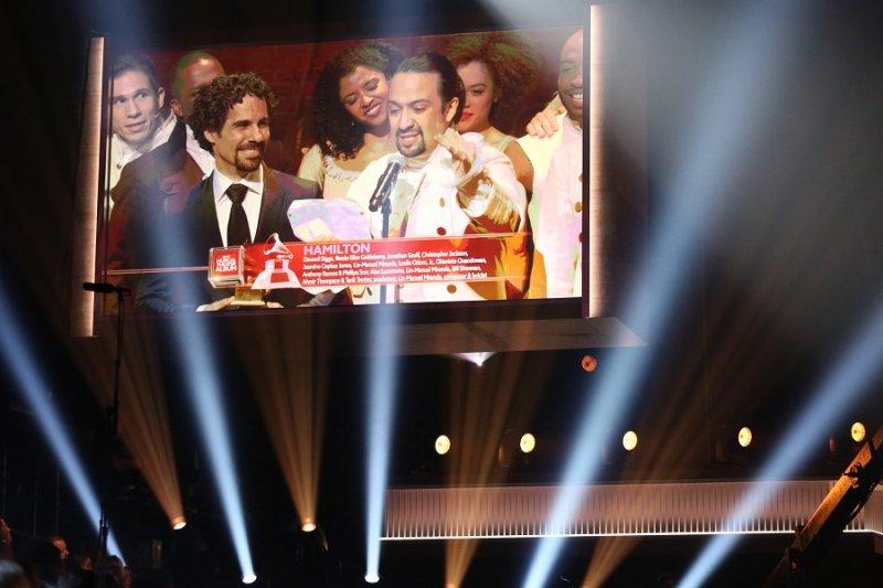百老匯音樂劇《漢密爾頓》獲得葛萊美最佳音樂劇專輯獎(美聯社)