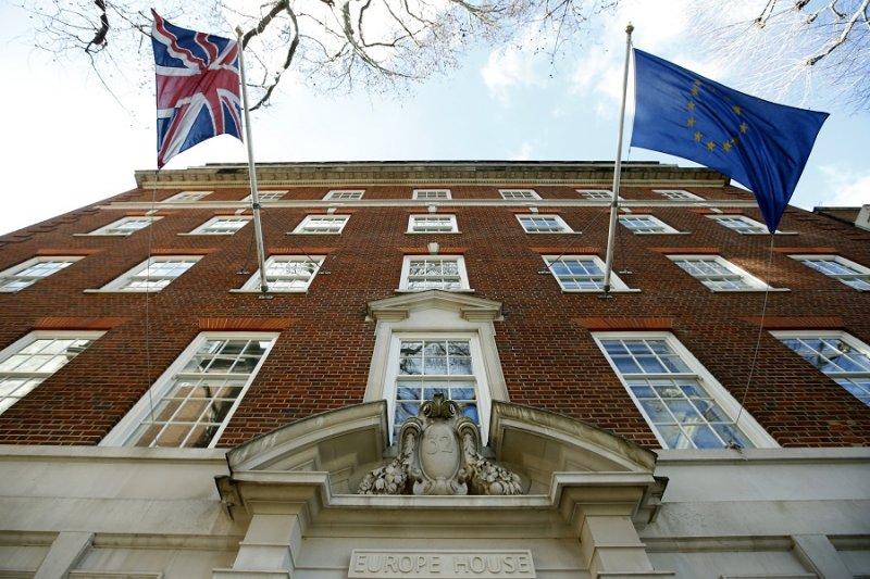 位於倫敦的歐盟辦公室(美聯社)