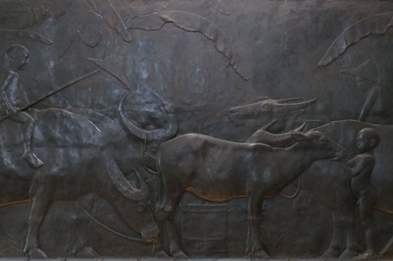 《水牛群像》成為黃土水一生的代表作。(張肇烜提供)