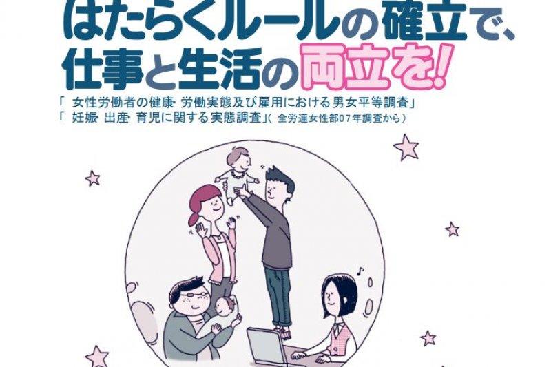 日本全勞連女性部每5年就會針對女性勞工進行調查,以了解女性職場實況。(翻攝日本全勞連)