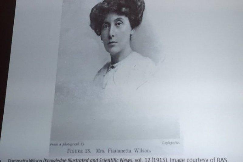 1916年,首位獲英國皇家天文學會會員資格的菲婭梅塔威爾森(Fiammetta Wilson)。(取自推特)