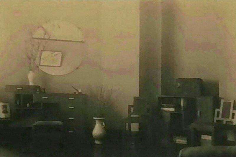 張愛玲常德公寓家的客廳全景。(作者提供)