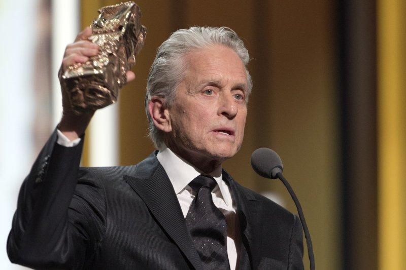 美國名演員麥克道格拉斯(Michael Douglas)得到凱撒獎榮譽獎(Honorary César)。(美聯社)