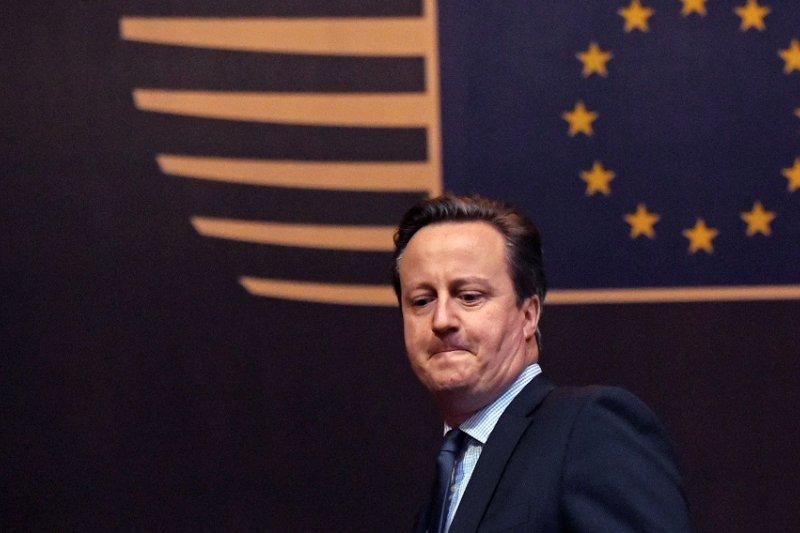 英國首相卡麥隆2月於布魯塞爾參加歐盟峰會(美聯社)